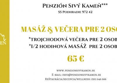 Masaz+večera 65€