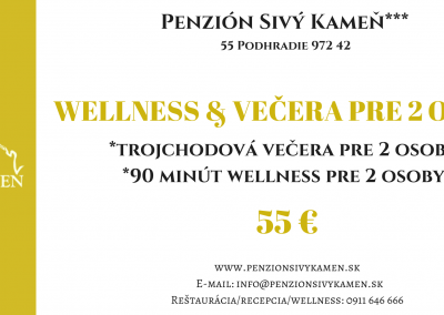 Wellness+večera 55€