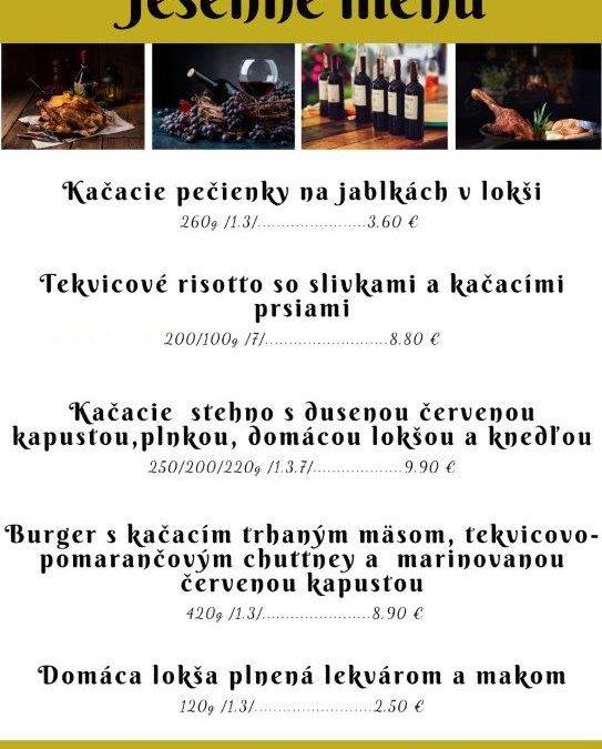 Jesenné menu 2020